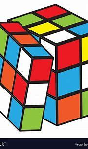 Rubik cube Royalty Free Vector Image - VectorStock