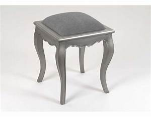 Tabouret De Coiffeuse : tabouret de coiffeuse gris argent amadeus ~ Teatrodelosmanantiales.com Idées de Décoration