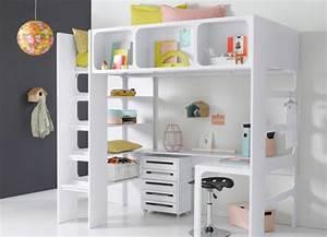 Lit Bureau Enfant : un lit mezzanine pour gagner de la place joli place ~ Teatrodelosmanantiales.com Idées de Décoration