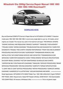 Mitsubishi Gto 3000gt Service Repair Manual 1 By