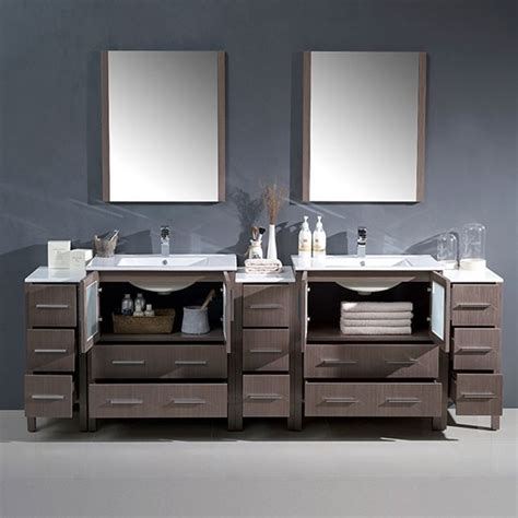 fresca torino double   modern bathroom vanity