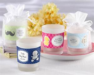 Personalized Frosted-Glass Votive - Baby Shower Designs