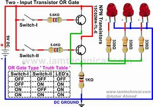 Two Input Or Gate Using Npn Transistor