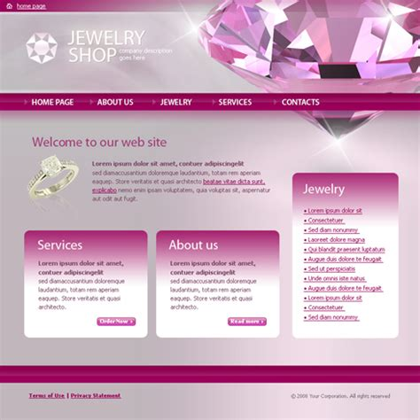 jewelry html template  jewelry website templates