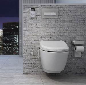 Bidet Toilette Kombination : nic7000 a combined electronic bidet seat and wall hung toilet ~ Michelbontemps.com Haus und Dekorationen