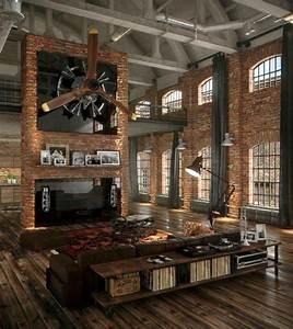 Deco Murale Industrielle : 1001 variantes de la d co industrielle avec plusieurs conseils suivre ~ Teatrodelosmanantiales.com Idées de Décoration