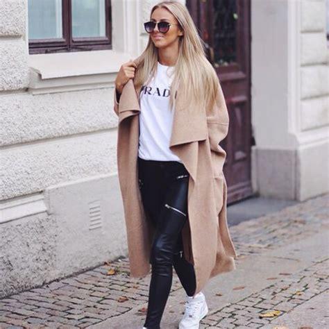 Coat beige nude oversized fall outfits jacket - Wheretoget