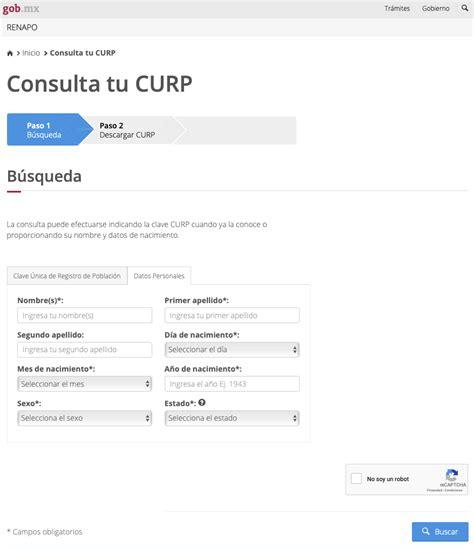 Se debe seleccionar dentro de la página web de curp la opción de buscar curp por nombre. Consulta tu CURP en Línea totalmente Gratis e Imprimela.