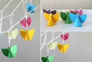 Weihnachtsbasteln Mit Kindern Vorlagen : weihnachtsengel basteln mit kindern zum dekorieren zu ~ Watch28wear.com Haus und Dekorationen