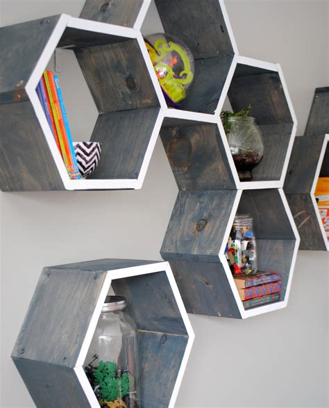 diy wall for guys diy wood honeycomb shelves jenna burger
