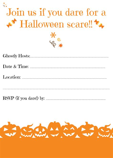 Free Printable Halloween Invitations for Your Super