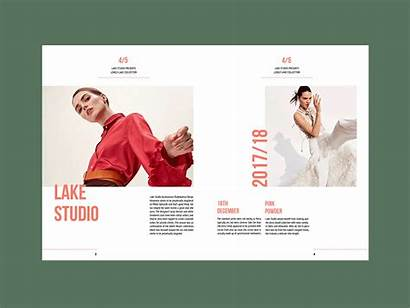 Layout Brochure Dribbble Report Graphic