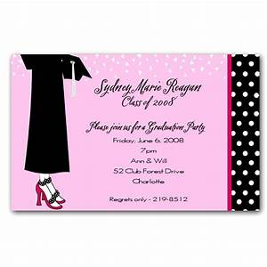 Female Graduation Celebration Invitations PaperStyle