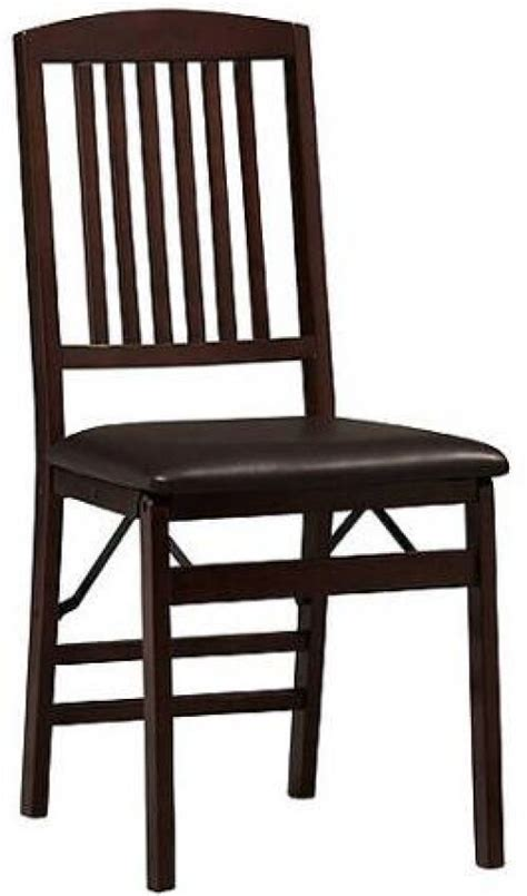 Padded Folding Dining Room Chairs by Kitchen Dining Folding Chairs Wood Padded Seats Set Of 2
