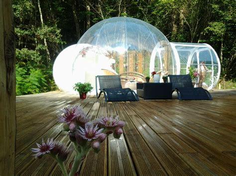 chambre bulle dans la nature nuit en bulle spa privatif locations insolites chalets