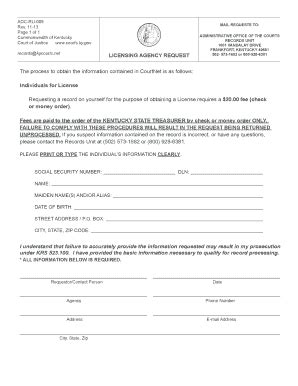 fillable courts ky aoc 005 form courts ky fax