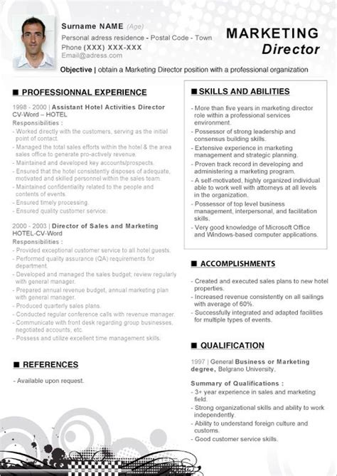 click     word resume marketing director