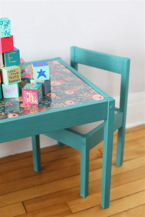 Diy Kids Table Makeover  The Sweetest Occasion. Folding Desk Hutch. Desk Lamp With Magnifier. Brown Leather Desk Chair. Twin Bed Base With Drawers. Small Desk Diy. Comic Book Drawer Boxes. Circular Reception Desk. Small Work Table