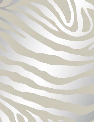 Silver Animal Print Wallpaper - zebrano wallpaper from nono pm144 silver