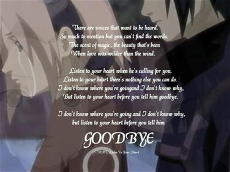 listen   heart     goodbye bye