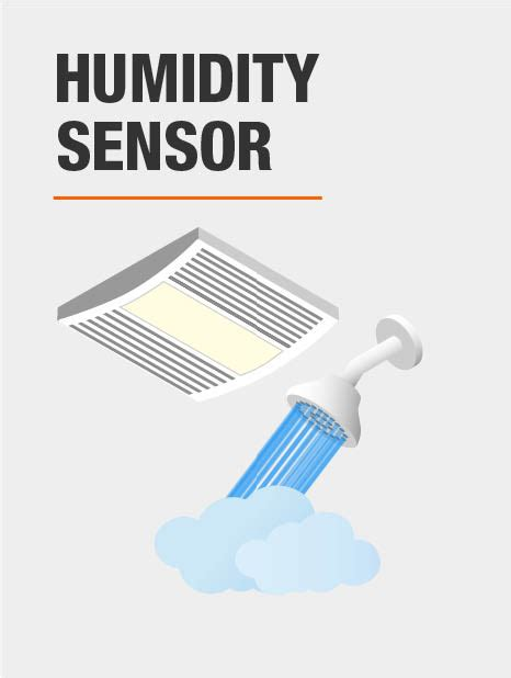 humidity sensing bathroom fan with light nutone qtx series 110 cfm ceiling humidity