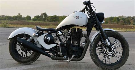 Modified Gixxer Bike by Custom Chopper Based On Royal Enfield Thunderbird Looks