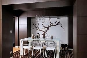 Décoration Appartement Moderne : papier peint panoramique pour mettre en valeur une salle ~ Nature-et-papiers.com Idées de Décoration