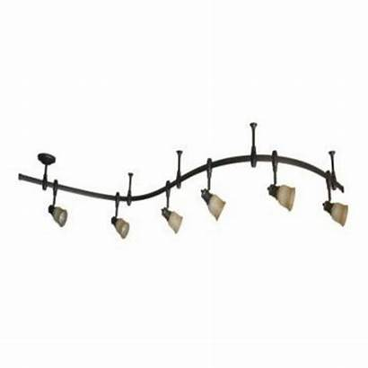 Track Lighting Flexible Kitchen Glass Stained Bronze
