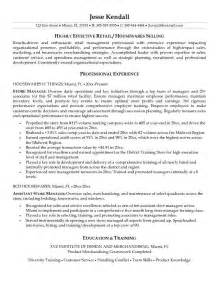 Grocery Store Manager Resume Objective by Retail Store Manager Resume Exles Store Sales Manager