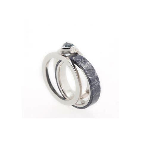 platinum engagement ring guard set w a topaz gemstone plus