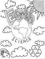Science Coloring Pages Earth sketch template