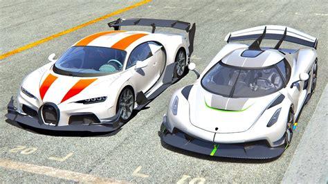 Today we have the koenigsegg jesko vs. Bugatti Chiron GTR vs Koenigsegg Jesko at Highlands - YouTube