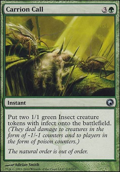mtg infect deck edh carrion call som mtg card