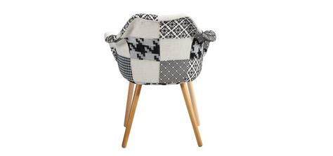 chaise noir et blanc chaise anssen patchwork grise achetez les chaises anssen