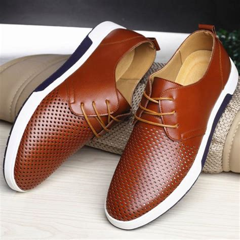 Shoes New Leather Men Breathable Casual Buy