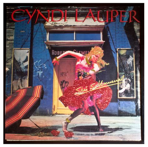 glittered cyndi lauper album shes  unusual view