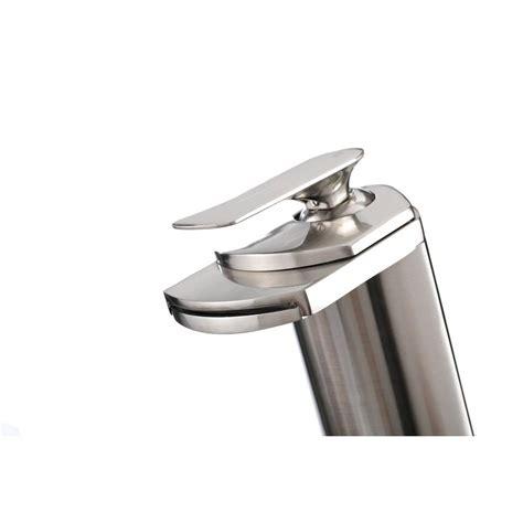 waterfall faucet brushed nickel kokols single 1 handle waterfall vessel bathroom