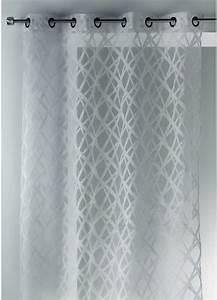 Rideaux En Solde : voilage en organza jacquard design blanc ivoire gris homemaison vente en ligne voilages ~ Teatrodelosmanantiales.com Idées de Décoration