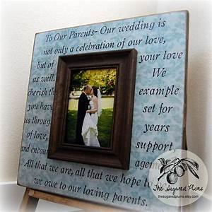 parents gift personalized picture frame wedding gift custom With parent gifts for wedding