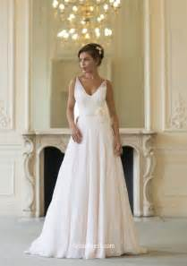 chiffon wedding gown v neck sleeveless a line layered chiffon simple wedding dress 3d flower groupdress