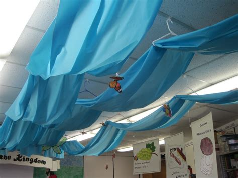Classroom Tree Decoration by Transform Your Ceiling Into A Spring Sky Inspired Class