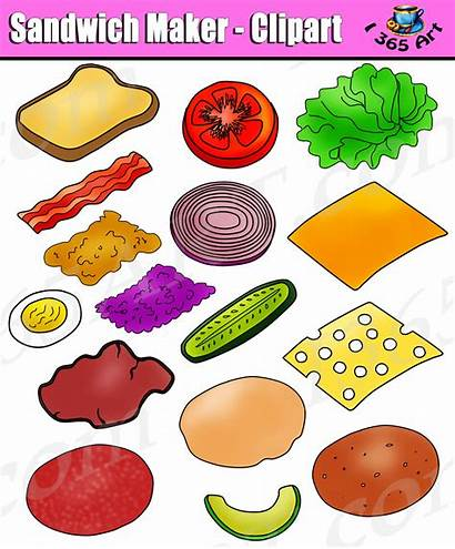 Sandwich Clipart Build Clip Toppings Bread Maker