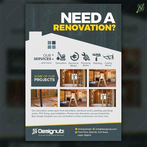 renovation flyer design template  constructors
