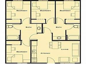small 4 bedroom house plans smallest 4 bedroom house With small house plans 4 bedrooms