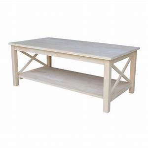 International concepts hampton unfinished coffee table ot for Show me coffee tables