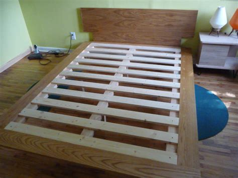 build a bed diy how to build a size platform bed plans free