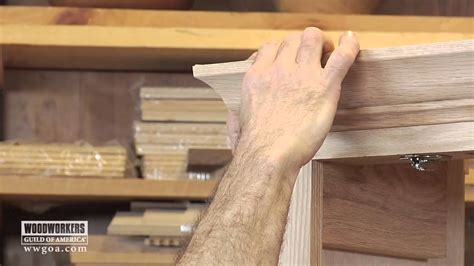 Diy Kitchen Curtain Ideas - woodworking diy project installing crown molding on a cabinet youtube