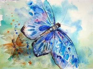 Watercolour Florals: Butterfly 2