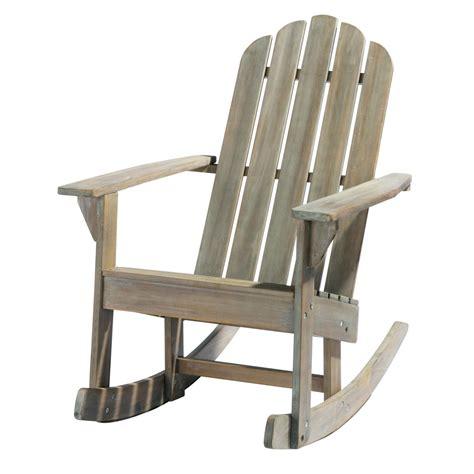 fauteuil de jardin 224 bascule en acacia gris 233 ontario maisons du monde