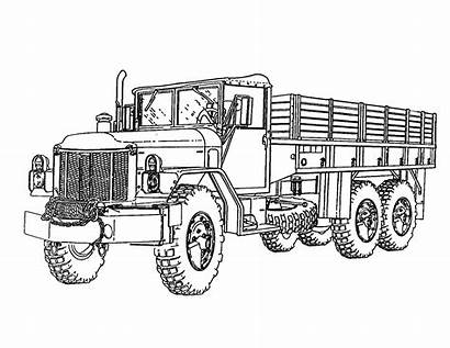 Coloring Truck Pages Military Army Boys Sheet